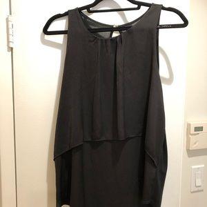 LOFT Black Embellished Top